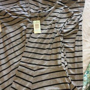 torrid Dresses - NWT Torrid Gray & Black striped Hi Lo Dress size 2